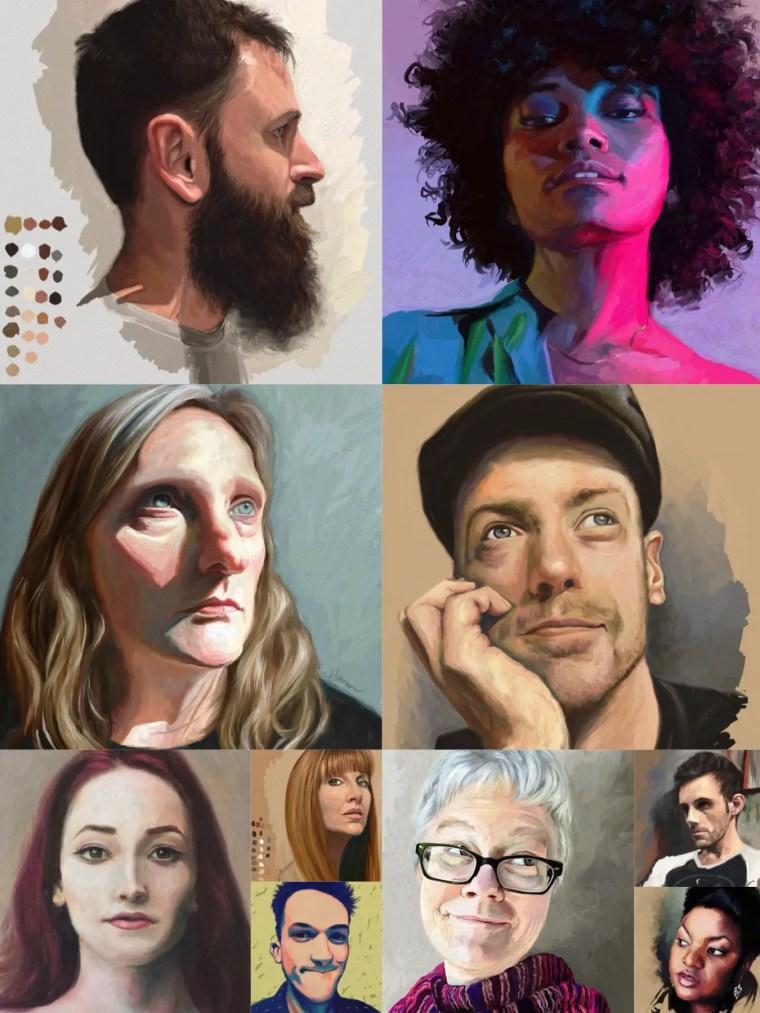 portrait challenge paintings - Final 10