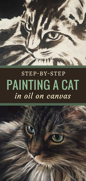 painting a cat prescott maine coone oil painting