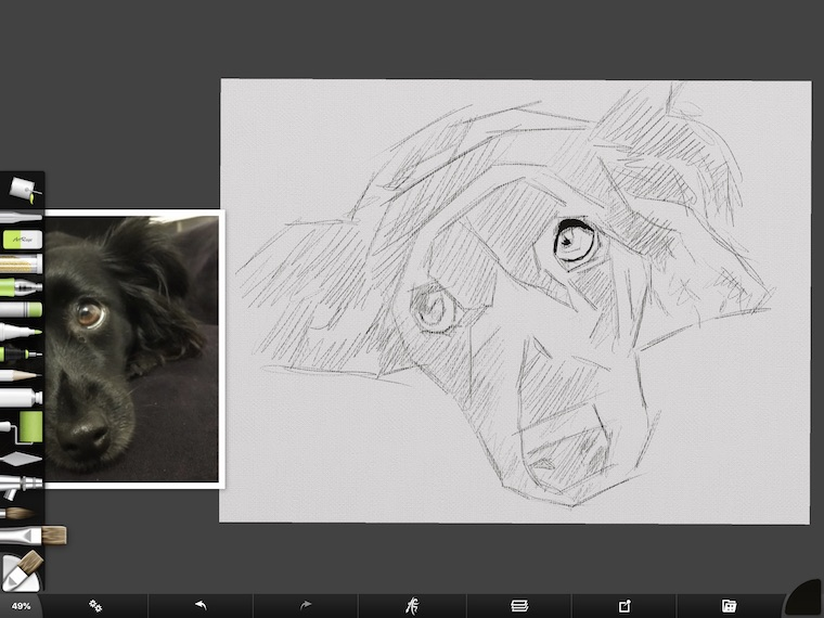 step 1 8 tips for painting black fur traditional and digital ArtRage step-by-step tutorial