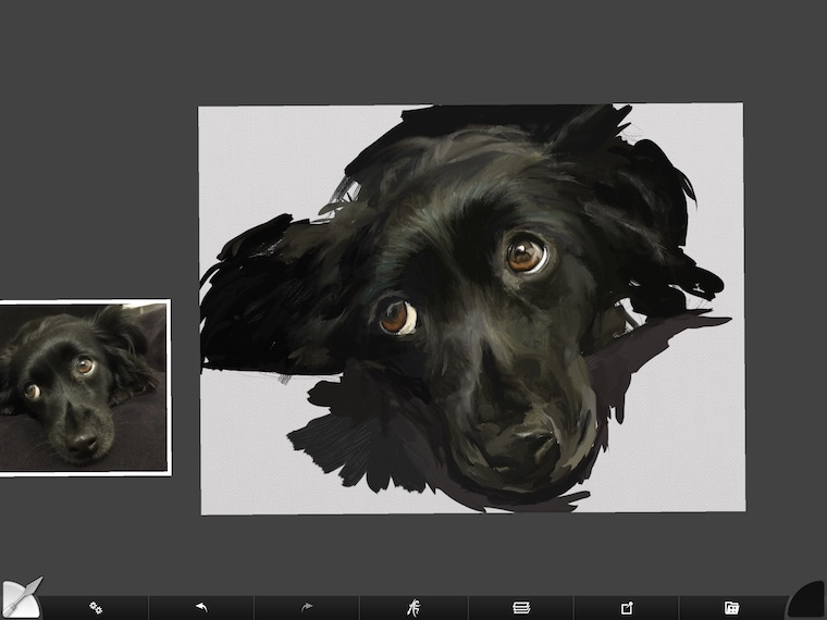 step 8 8 tips for painting black fur traditional and digital ArtRage step-by-step tutorial