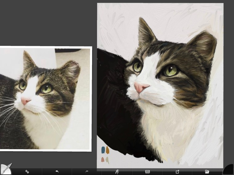 Cat digital painting tutorial step 11 adding highlights to fur