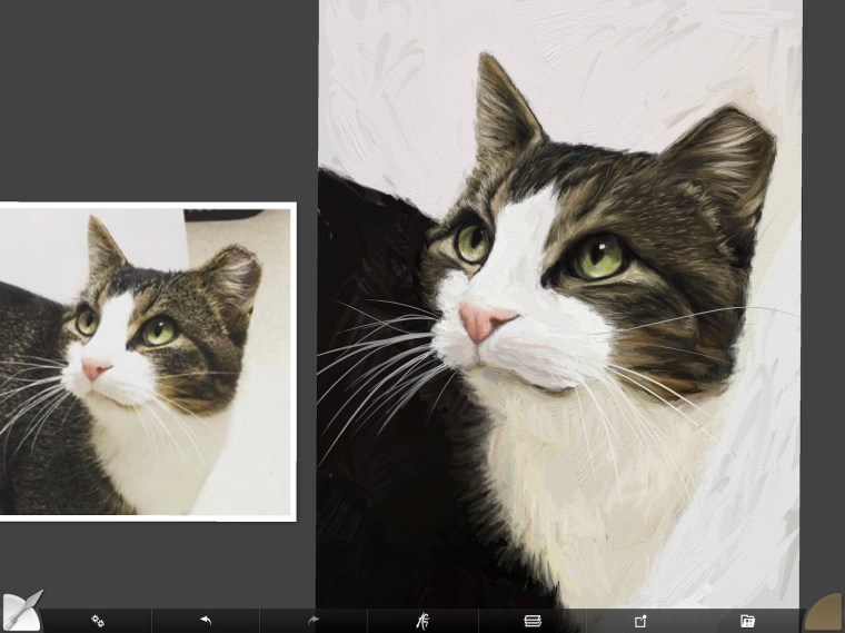 Cat digital painting tutorial step 12 ticking on fur and whiskers