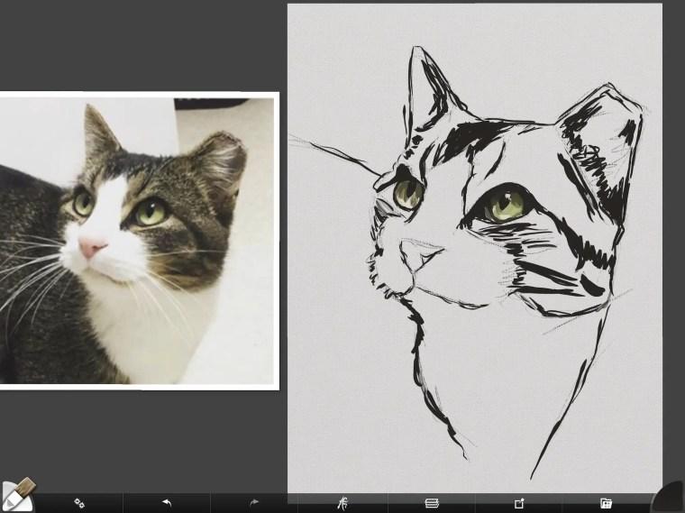 Cat digital painting tutorial step 2 painting eyes