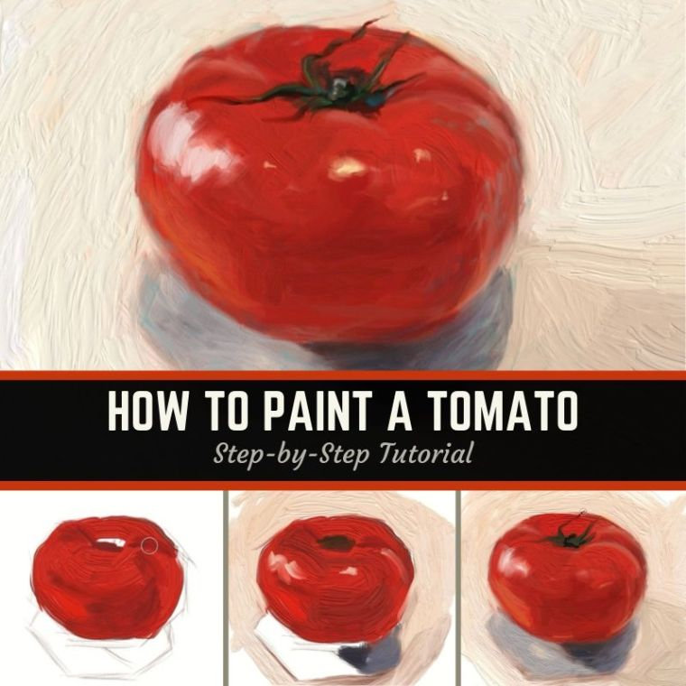 How to paint a tomato title card