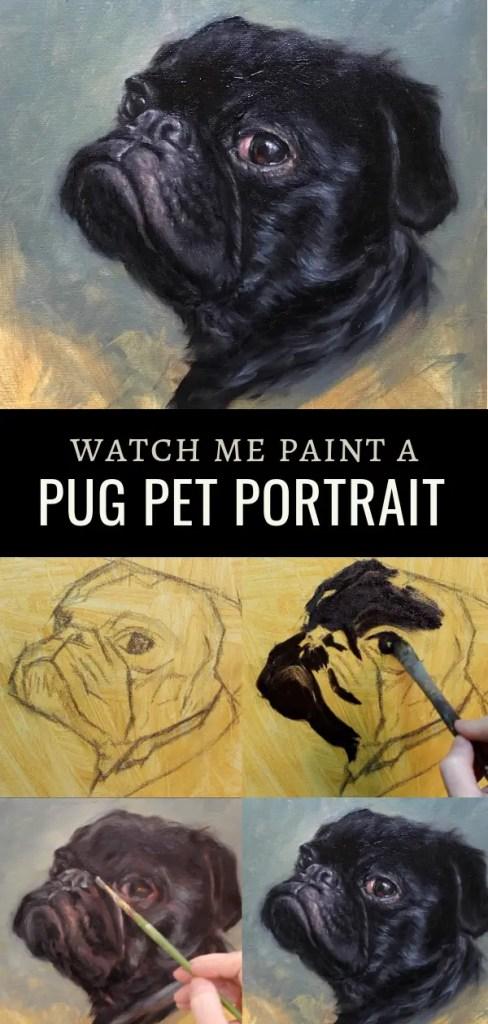 pug pin 2 pet portrait