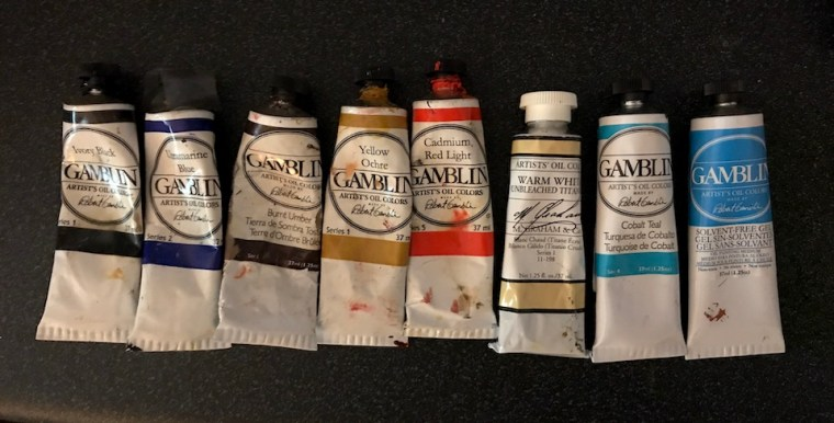 gamblin and M. Graham oil paints