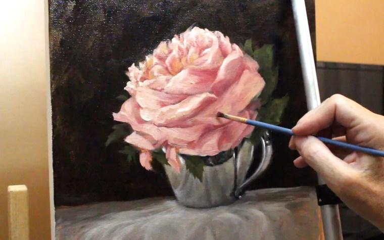 Impressionist flower painting petals