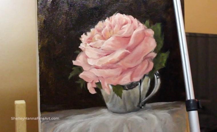 Impressionist flower painting 8