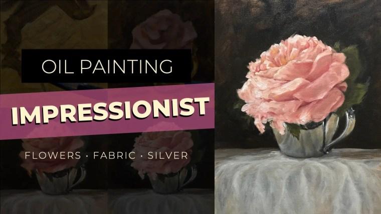 impressionist flower painting video art