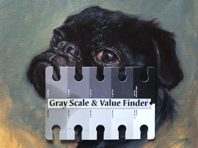 Pug with gray scale value finder