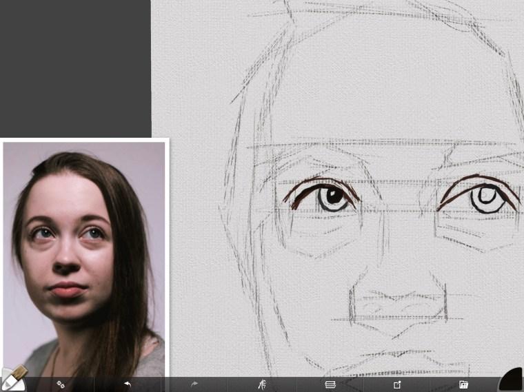 Right eye outline
