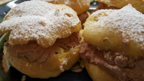 Chocolate Cream filled Cream Puffs