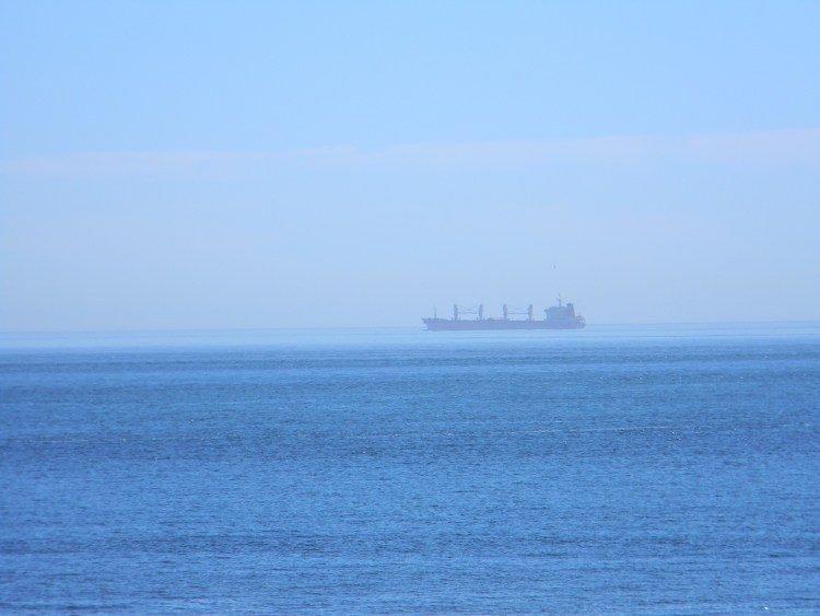 A lonesome Ship across the Sea (Photo by Shelley Kassian)