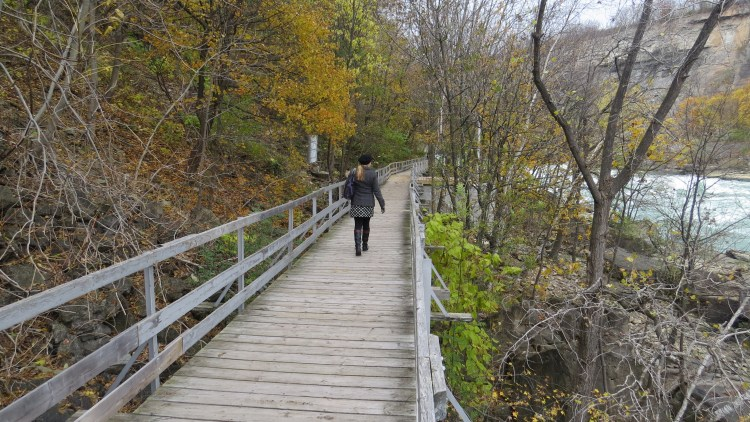 Shelley Kassian walking along the White Water Walk (Photo by Shelley Kassian)