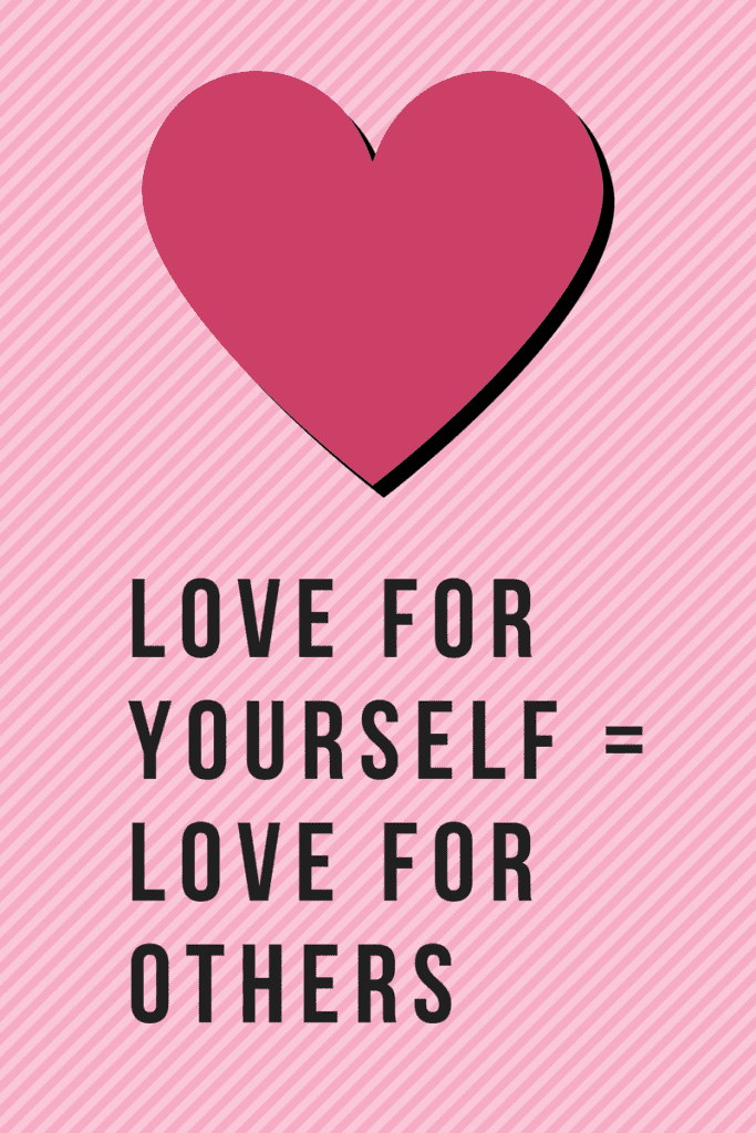 Loving self value yourself