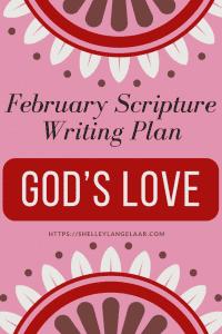 Scripture writing plan God's Love