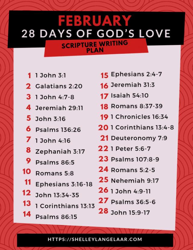 Scripture reading challenge God's Love