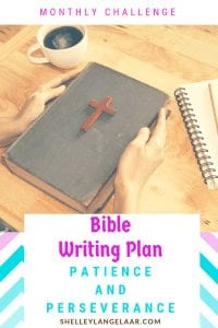 Patience and Perseverance Bible Writing plan