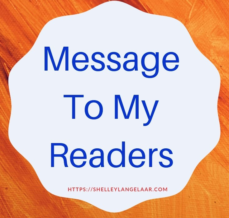 Thank you to my readers