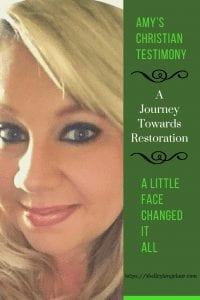 Amy's Christian Testimony