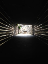 Entry and light at the Irish Hunger Memorial