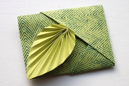 Easy origami leaf card | Shelley Makes