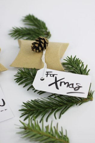 'For Xmas' Brush Lettered Gift Tags | Shelley Makes