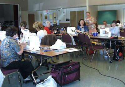 The Raincross Ladies hard at work