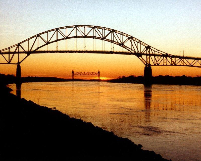 Cape Cod Canal Bourne Bridge and Railroad Bridge