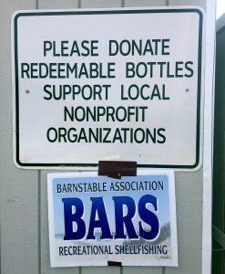 BARS at the recycling shed at Barnstable Transfer Station