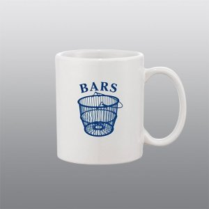 BARS basket logo mug