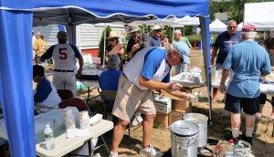 Keith Hochstein serving up BARS great chowder