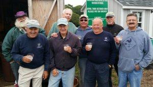 Front row: Dick Ossen, George Lloyd, Steve Hoxie, John Ferine; Back row: Bob Parsons, Lenny Clark, Wayne Lish, Andy Newman