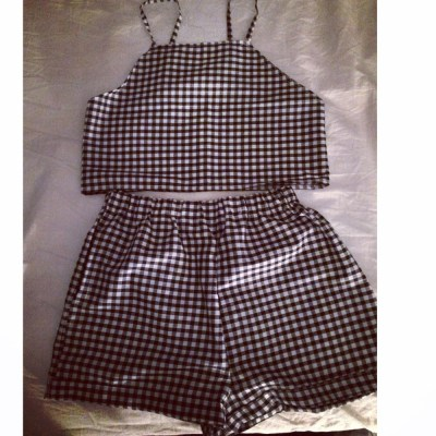 Image of Black Gingham Co Ord