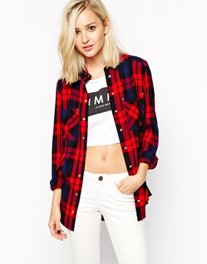 Image 1 of River Island Red Check Shirt