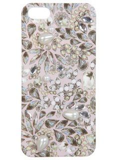 Pink Embellished iPhone Case