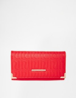 Image 1 of River Island RI Embossed Fold Over Purse