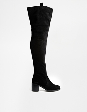 Image 2 ofASOS KINGFISHER Suede Over the Knee Boot