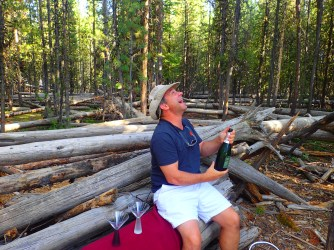 Popping the bubbly in Yellowstone