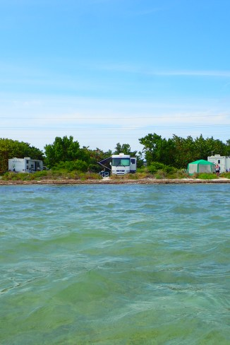 Our site from out on the water.