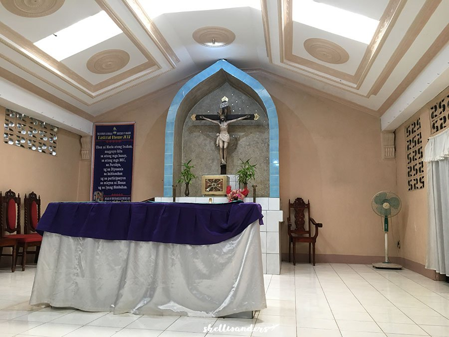 Inside the Chapel of St. Francis Javier