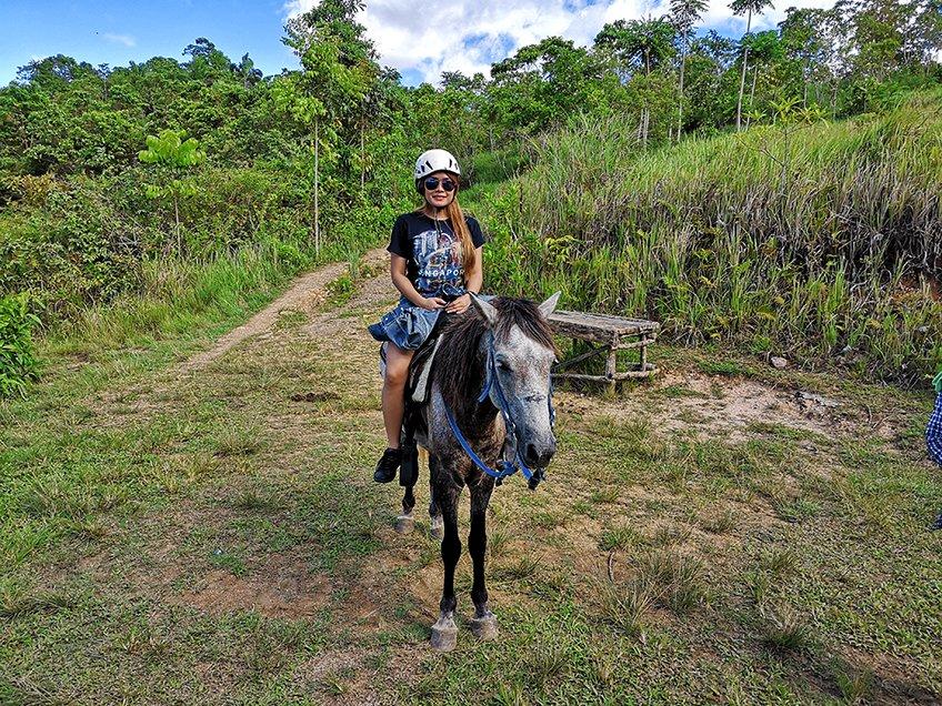 Meet CoCo. The white-ish horse that carries me everywhere in my hacienda. lol