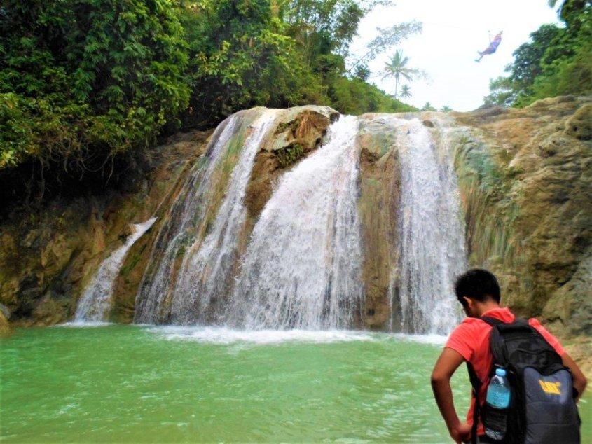 Waterfalls at Danasan Eco Adventure Park