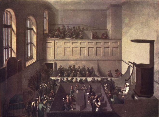 Source: Wikipedia, public domain, source: Microcosm of London, 1810