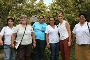 Shelly and collaborators. Board of directors at the Centro de Mujeres Xochitl Acalt in Malpaisillo.