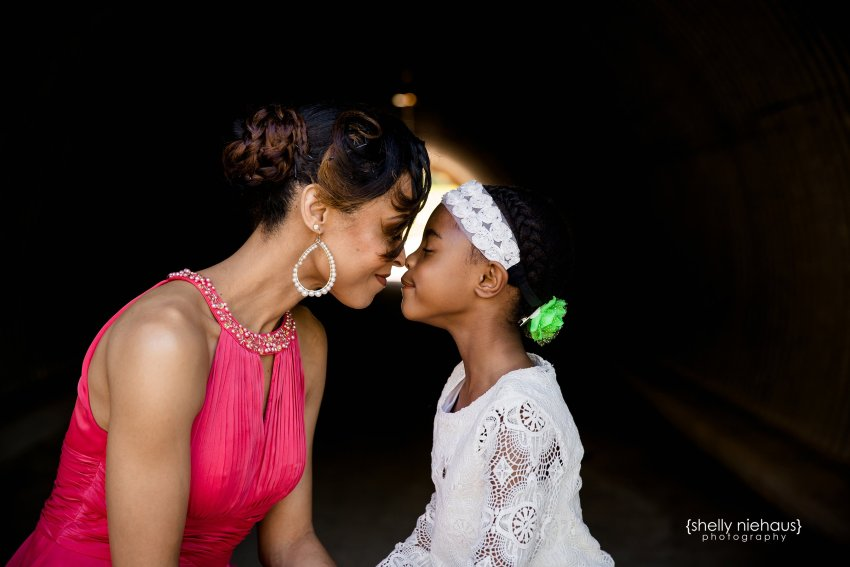 mom and daughter laughing - prosper family photography