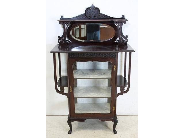 1890年代イギリス製アンティーク ヴィクトリアン マホガニー 小型のパーラーキャビネット