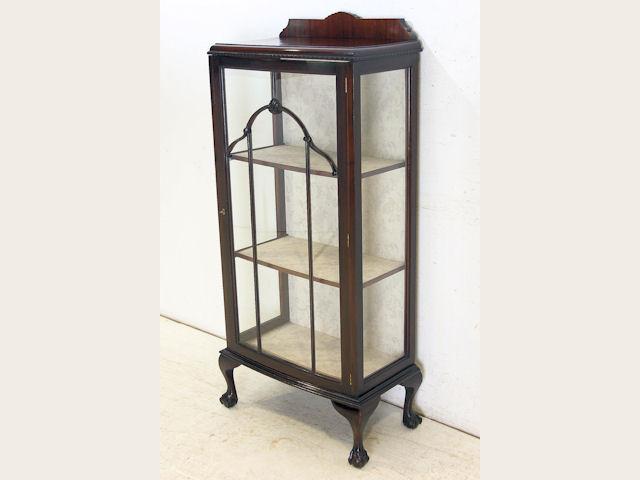 1890年代イギリス製アンティーク ヴィクトリアン ソリッドマホガニー 無垢材 ボウルクロウフット キャビネット