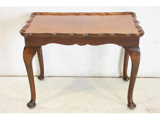 1950年代 イギリス製 アンティーク ウォルナット 猫脚 スモール 小型  ローテーブル