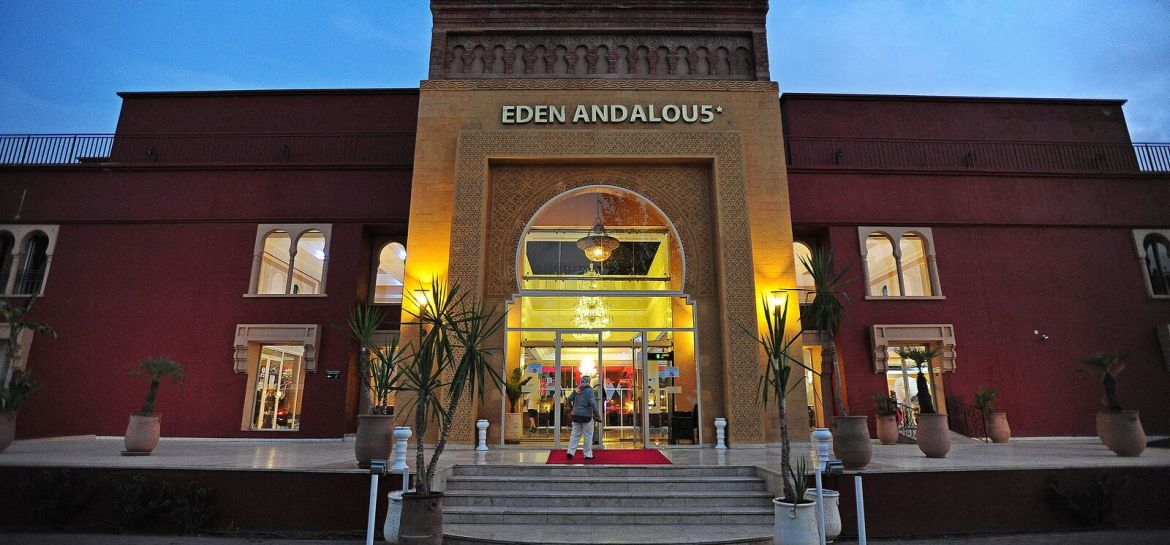 Main entrance to Eden Andalou Hotel